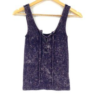 AERIE Acid Wash Ribbed Tank Laced Detail - Size XS